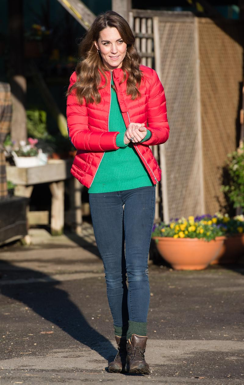 GREAT MISSENDEN, ENGLAND - DECEMBER 04: Catherine, Duchess of Cambridge joins families and children who are supported by the charity Family Action at Peterley Manor Farm on December 04, 2019 in Great Missenden, England. This is to mark HRH new patronage of Family Action. (Photo by Samir Hussein/WireImage)