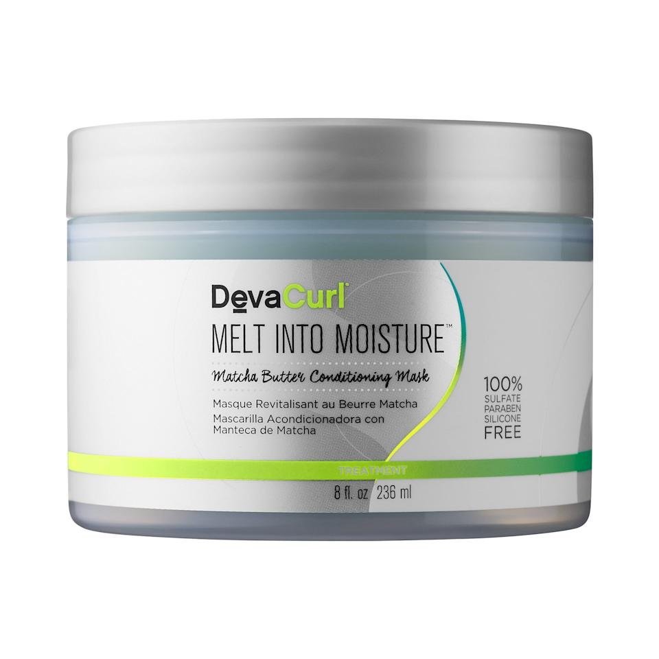 "<p>Keep your curls conditioned with this <a href=""https://www.popsugar.com/buy/DevaCurl-Melt-Moisture-Matcha-Butter-Conditioning-Mask-483304?p_name=DevaCurl%20Melt%20into%20Moisture%20Matcha%20Butter%20Conditioning%20Mask&retailer=sephora.com&pid=483304&price=36&evar1=bella%3Aus&evar9=46529711&evar98=https%3A%2F%2Fwww.popsugar.com%2Fbeauty%2Fphoto-gallery%2F46529711%2Fimage%2F46529725%2FDevaCurl-Melt-into-Moisture-Matcha-Butter-Conditioning-Mask&list1=shopping%2Csephora%2Cbeauty%20shopping%2Cmatcha&prop13=mobile&pdata=1"" rel=""nofollow"" data-shoppable-link=""1"" target=""_blank"" class=""ga-track"" data-ga-category=""Related"" data-ga-label=""https://www.sephora.com/product/melt-into-moisture-matcha-butter-conditioning-mask-P421495?icid2=products%20grid:p421495:product"" data-ga-action=""In-Line Links"">DevaCurl Melt into Moisture Matcha Butter Conditioning Mask</a> ($36).</p>"
