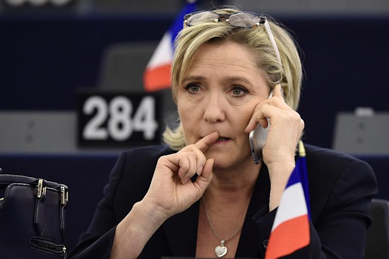 French far-right leader Marine Le Pen photographed in the European Parliament in Strasbourg
