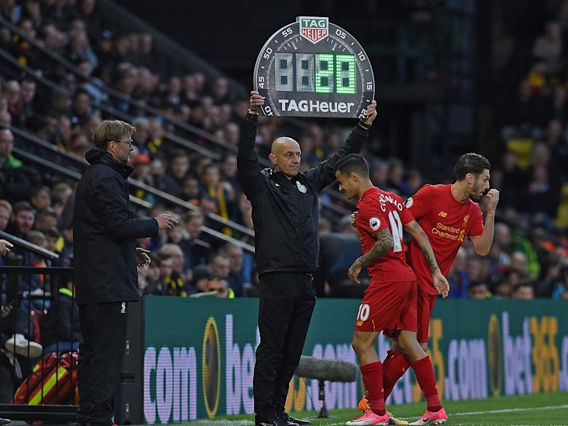 Philippe Coutinho was unable to play on against Watford on Monday night: Getty