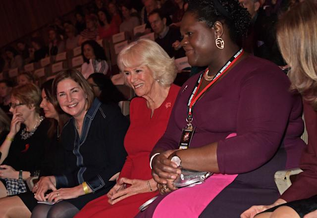 Camilla at the opening of the festival, of which she is president. (Getty Images)