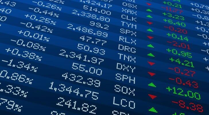 Digital display of stock prices