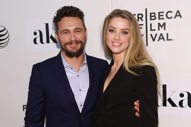"NEW YORK, NY - APRIL 16: James Franco and Amber Heard attend the premiere of ""The Adderall Diaries"" at the 2015 Tribeca Film Festival at BMCC Tribeca PAC on April 16, 2015 in New York City. (Photo by Taylor Hill/FilmMagic)"
