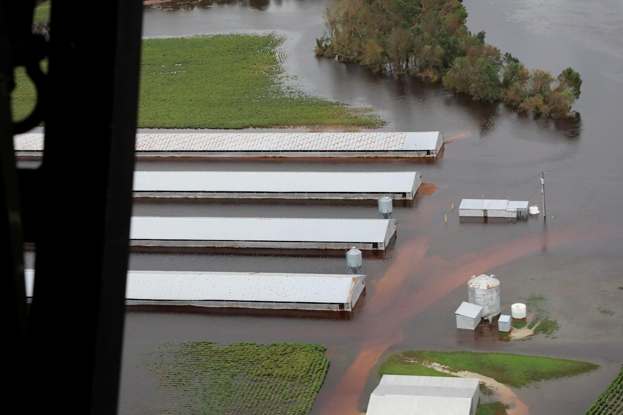 A flooded farm in central North Carolina on Sept. 16. (Photo: Handout . / Reuters)