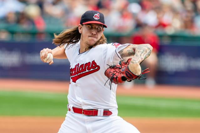 Mike Clevinger didn't take kindly to someone calling out his long hair on Twitter. (Getty Images)