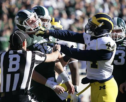 Expect plenty of fireworks when Michigan State meets Michigan on Oct. 17. (AP)