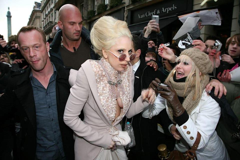 Lady Gaga sighted leaving her hotel in Paris, France. (Marc Piasecki/FilmMagic)