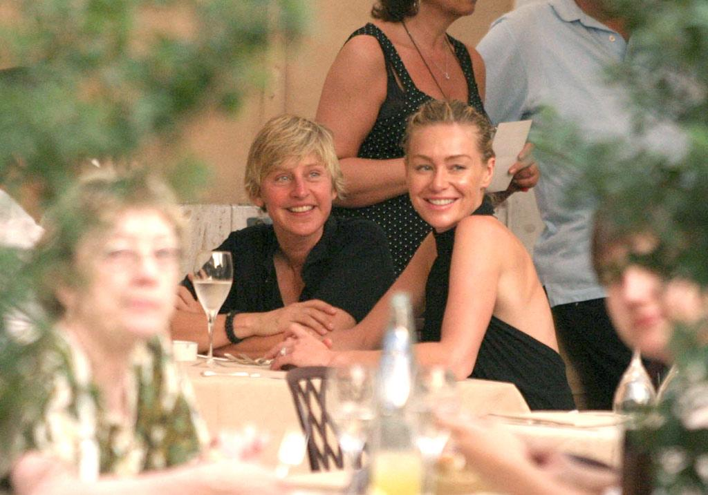 "When dining al fresco, there's no better place than Rome. Just ask Ellen DeGeneres and Portia de Rossi! <a href=""http://www.splashnewsonline.com/"" target=""new"">Splash News</a> - June 30, 2008"