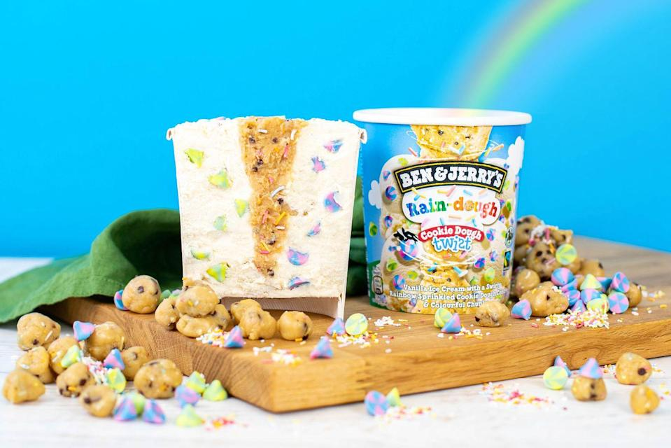 Ben & Jerry's new Rain-dough flavour is bursting with cookie dough and rainbow sprinkles