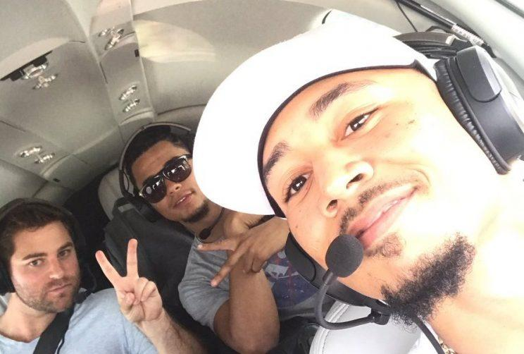 Mookie Betts flew Chris Archer to Miami. Himself. In a plane. (Twitter)