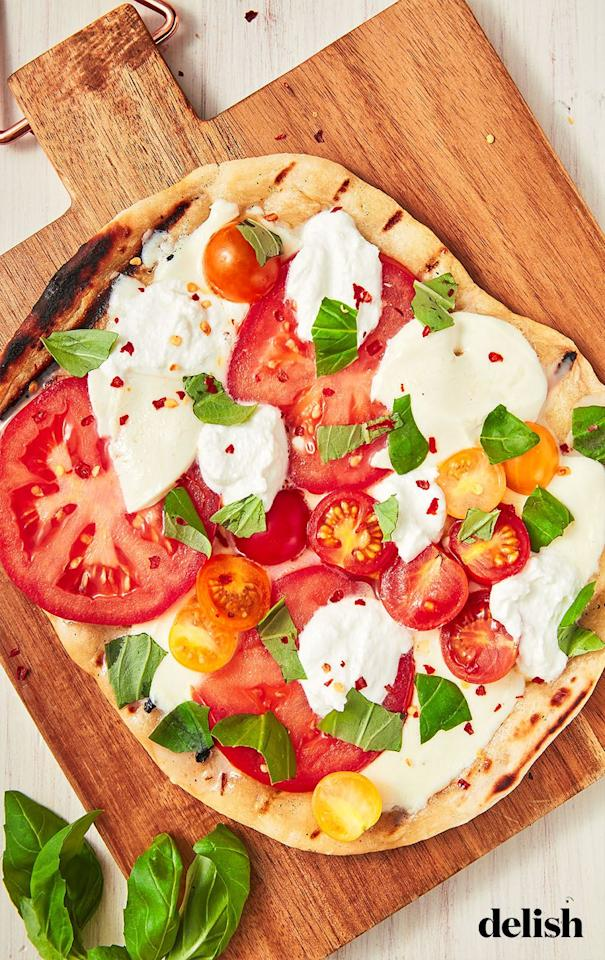 """<p>The simple summer dinner you need. </p><p>Get the recipe from <a href=""""https://www.delish.com/cooking/recipe-ideas/a27612422/grilled-pizza-recipe/"""" target=""""_blank"""">Delish</a>.</p>"""