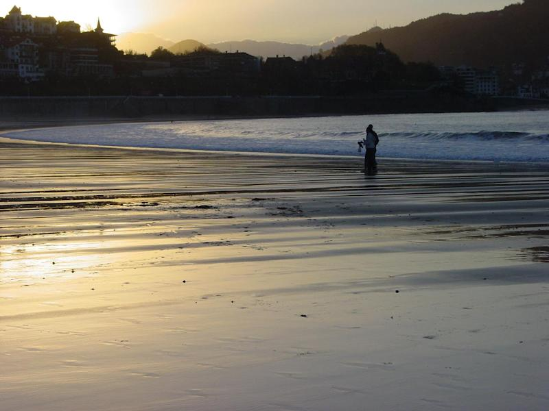 Distant dream: the beach at San Sebastian in northern Spain: Simon Calder