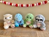 """<p><strong>bluewinkdesigns</strong></p><p>etsy.com</p><p><strong>$11.00</strong></p><p><a href=""""https://go.redirectingat.com?id=74968X1596630&url=https%3A%2F%2Fwww.etsy.com%2Flisting%2F758084726%2Fpersonalized-stuffed-animal-personalized&sref=https%3A%2F%2Fwww.goodhousekeeping.com%2Fholidays%2Fgift-ideas%2Fg4923%2Fvalentine-gifts-for-kids%2F"""" rel=""""nofollow noopener"""" target=""""_blank"""" data-ylk=""""slk:Shop Now"""" class=""""link rapid-noclick-resp"""">Shop Now</a></p><p>With their name embroidered on their new animal friends, your kids will know these stuffies' hearts belong to only them. There are four animals to choose from.</p>"""