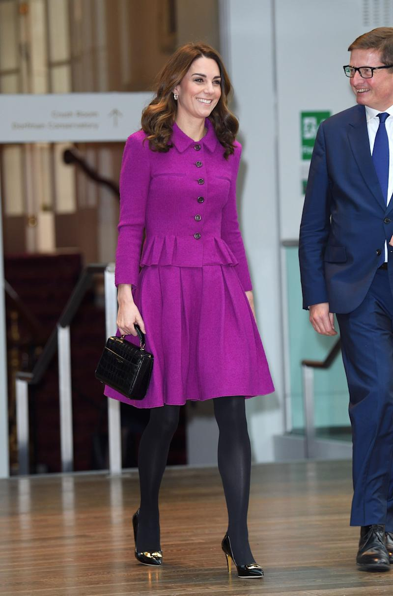 Kate visits London's Royal Opera House on Jan. 16.