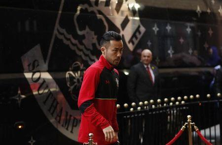 Southampton's Maya Yoshida arrives at the stadium