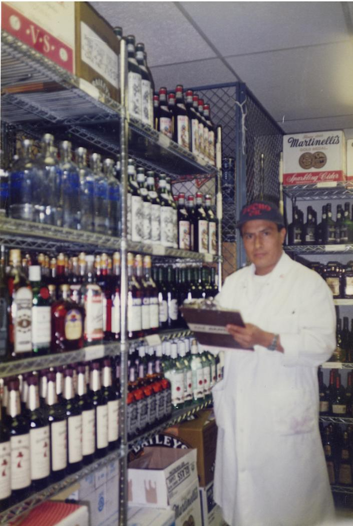 Luis Alfonso Chimbo at the Windows on the World restaurant in New York, circa 2000. | Courtesy of the Chimbo family.