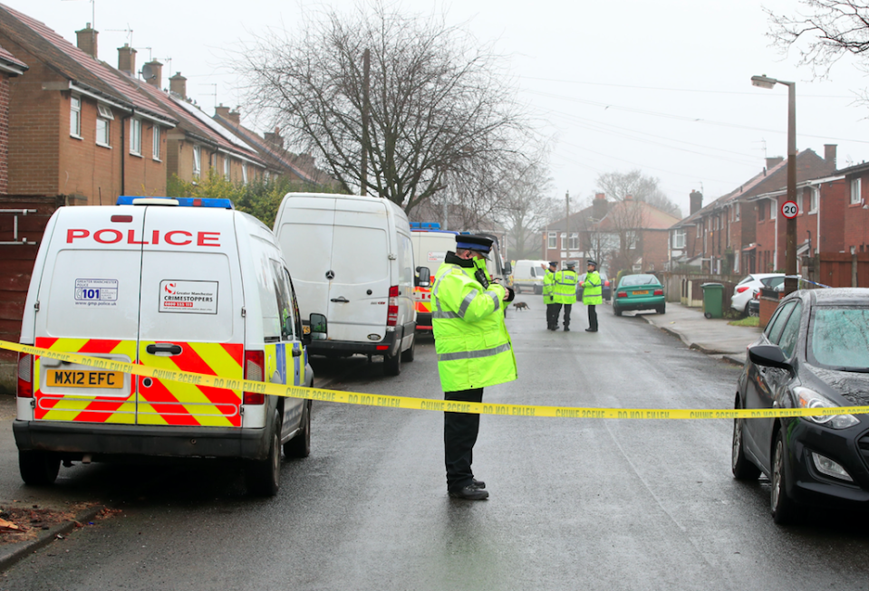 <em>Police dug up the garden shortly after Coombes confessed to the murder (PA)</em>
