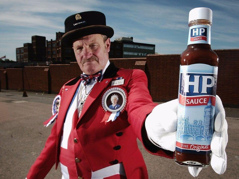 hp sauce and english barrister