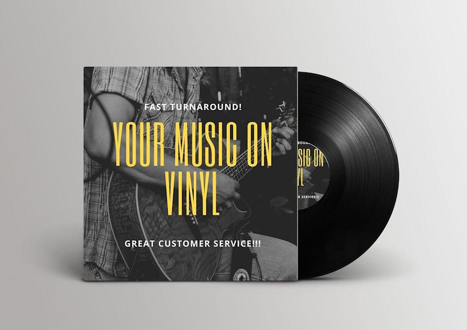"""<p><strong>YourMusicOnVinyl</strong></p><p>etsy.com</p><p><strong>$99.00</strong></p><p><a href=""""https://go.redirectingat.com?id=74968X1596630&url=https%3A%2F%2Fwww.etsy.com%2Flisting%2F847970421%2Fcustom-12-vinyl-record-w-your-music-and&sref=https%3A%2F%2Fwww.prevention.com%2Flife%2Fg27288061%2Ffathers-day-gift-ideas%2F"""" rel=""""nofollow noopener"""" target=""""_blank"""" data-ylk=""""slk:Shop Now"""" class=""""link rapid-noclick-resp"""">Shop Now</a></p><p>Audiophiles can be hard to please, especially when they seem to own everything already. Gift him something brand-new with this custom vinyl record, which comes pressed with any songs you'd like <em>and</em> enclosed in a personalized sleeve to boot.</p>"""