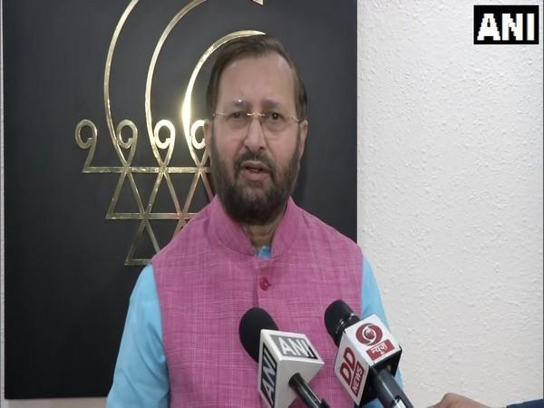 Union Environment Minister Prakash Javadekar on Friday. (Photo/ANI)