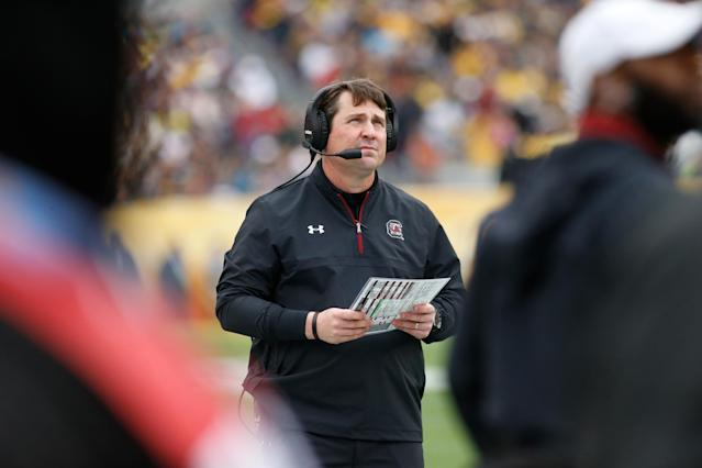 South Carolina head coach Will Muschamp was D.J. Durkin's boss at Florida earlier this decade. (Getty)