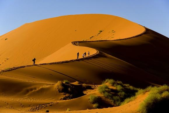 sand dunes in Namibia's Naukluft National Park