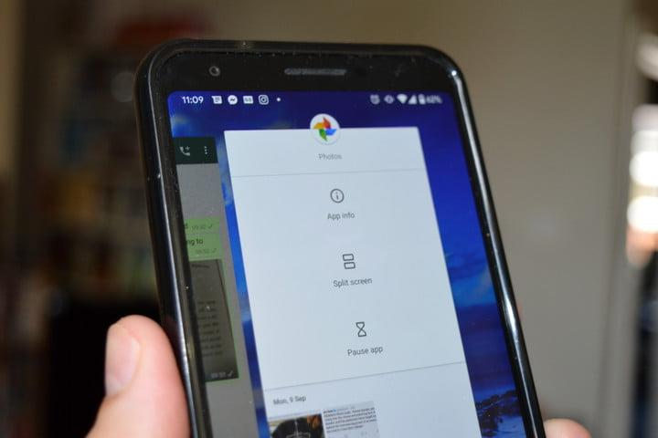 how to use gesture navigation in android 10 gestures split screen