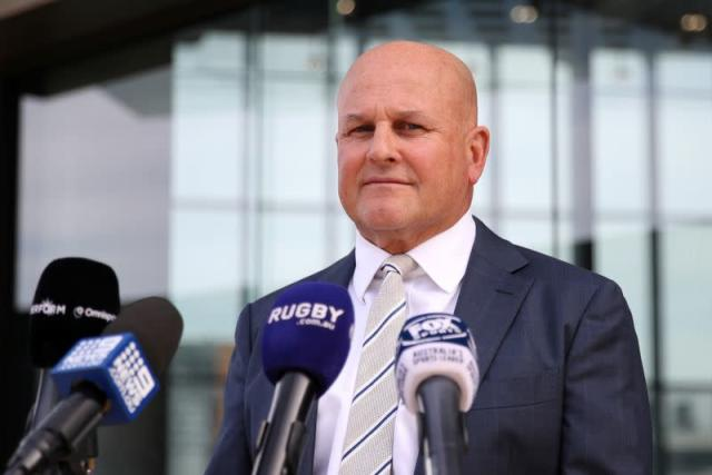 Interim Rugby Australia CEO Rob Clarke holds a news conference amidst the spread of the coronavirus disease (COVID-19) at Rugby Australia headquarters in Sydney