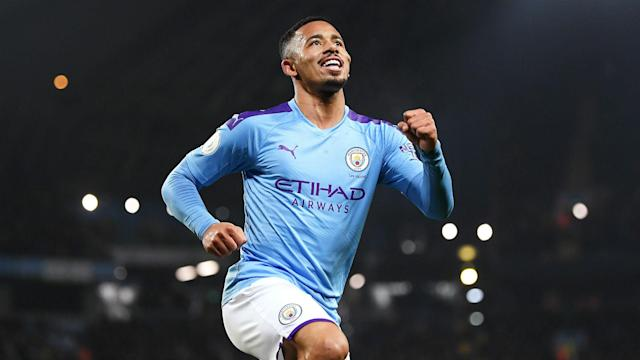 "Gabriel Jesus scored twice in a 2-1 win over Everton, but Pep Guardiola says Sergio Aguero is still ""irreplaceable"" for Manchester City."