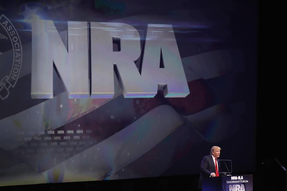 <p>NRA files for bankruptcy, moving from New York to Texas</p> (Scott Olson/Getty Images)