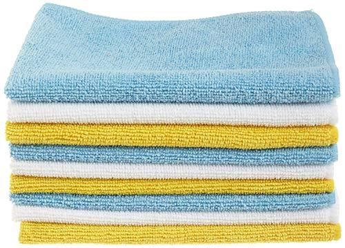 AmazonBasics Blue and Yellow Microfiber Cleaning Cloth, 24-Pack (Amazon / Amazon)