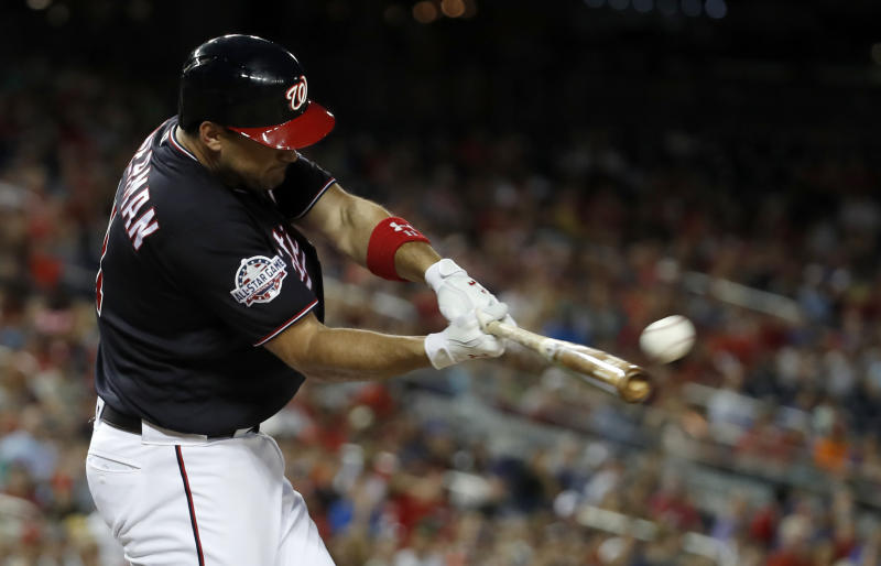 Nationals DFA Kelley after glove slam in rout