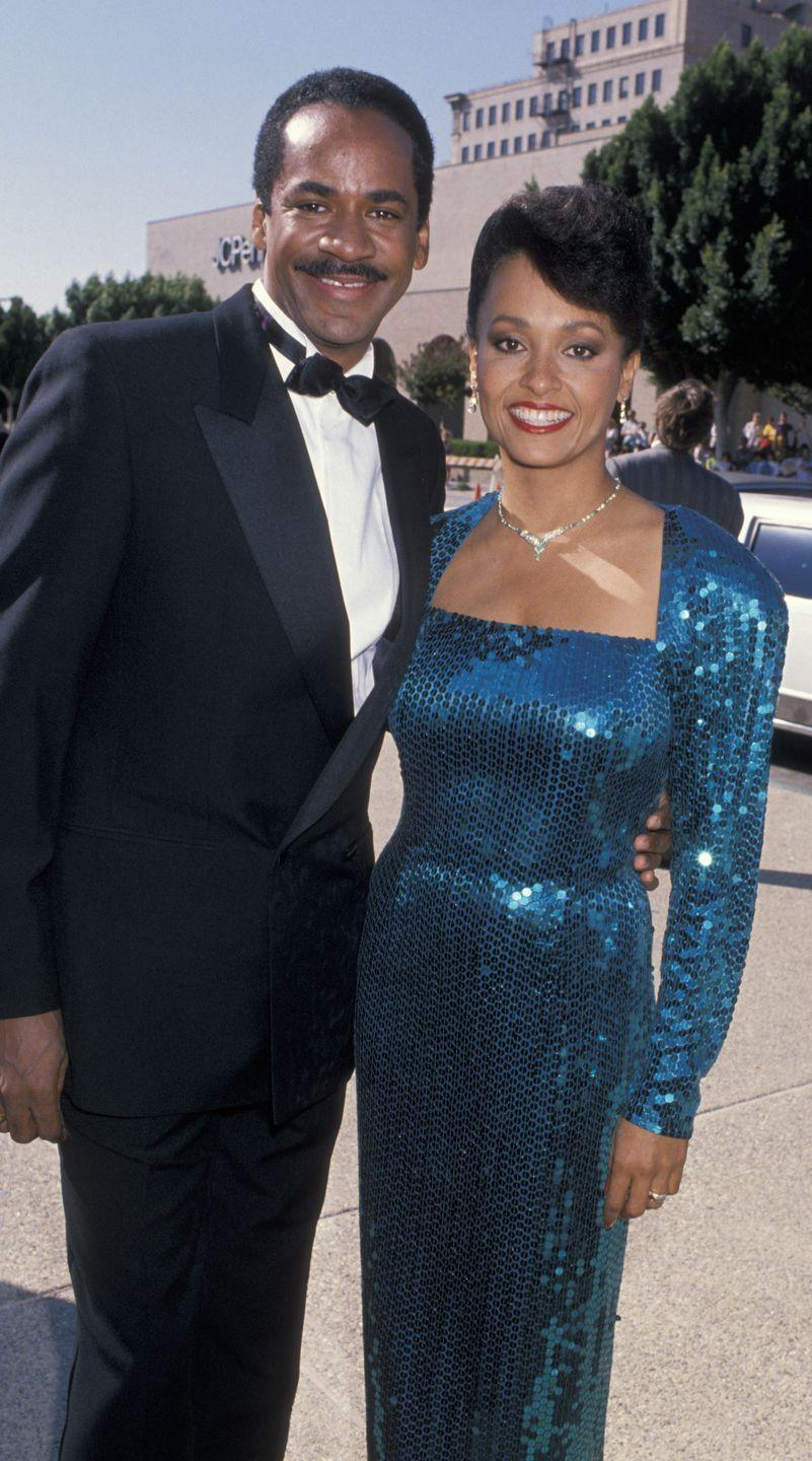 """<p>Being married and in sequin never looked so good. The """"Frank's Place"""" and """"Fresh Prince"""" stars kept it classy.</p>"""