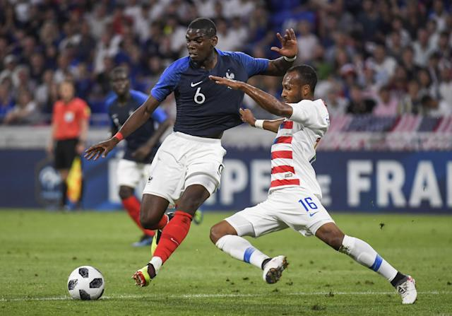With a pair of tough friendlies over the next week, Julian Green (16) and the USMNT youngsters will look to build off their draw against eventual World Cup champion France from earlier in the year. (Getty)