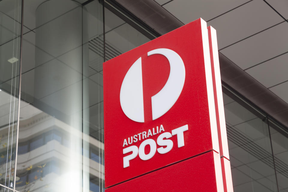 Australia Post logo sign. Source: Getty Images