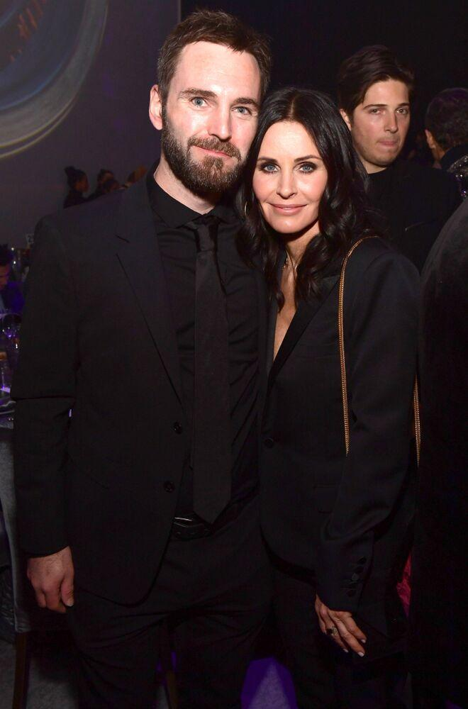 Johnny McDaid and Courteney Cox   Matt Winkelmeyer/Getty Images for UCLA Institute of the Environment