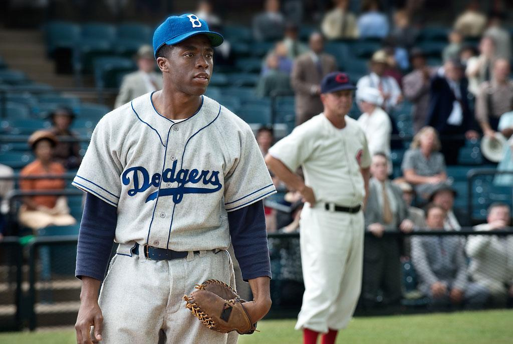 "Chadwick Boseman in Warner Bros. Pictures' ""42"" - 2013"