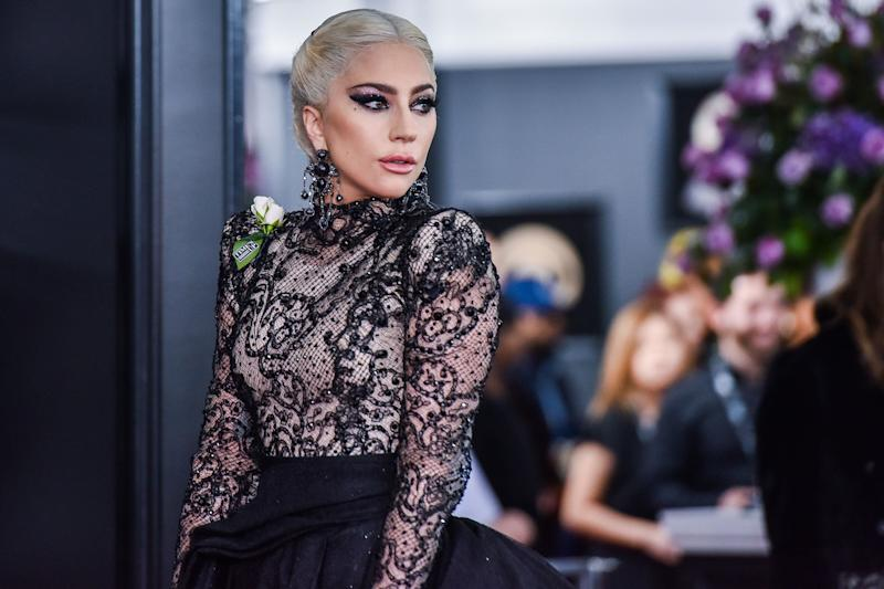 Lady Gaga arrives at the 60th Annual GRAMMY Awards red carpet at Madison Square Garden in New York City, NY on January 28, 2018. (Photo by Anthony Behar/Sipa USA)