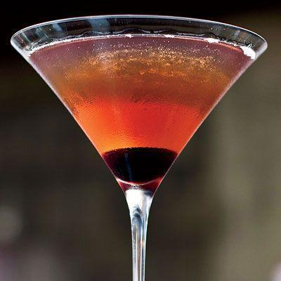 """<p>The classic Manhattan cocktail containing rye whiskey, sweet vermouth, and Angostura bitters.</p><p>Get the recipe from <a href=""""https://www.delish.com/cooking/recipe-ideas/recipes/a9515/manhattan-recipe/"""" rel=""""nofollow noopener"""" target=""""_blank"""" data-ylk=""""slk:Delish"""" class=""""link rapid-noclick-resp"""">Delish</a>.</p>"""