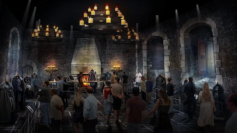 Concept art for the Game of Thrones tour: The Great Hall at Winterfell (HBO)