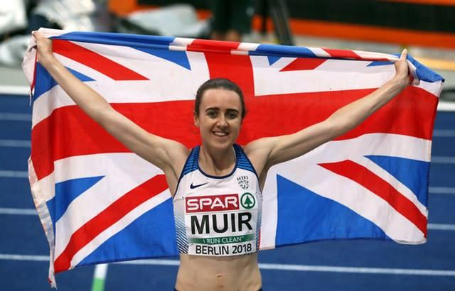 Laura Muir is the 1500m European champion. (Martin Rickett/PA)
