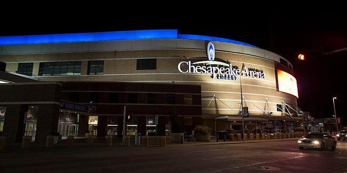 "Chesapeake Energy Arena in Oklahoma City, Oklahoma. <p class=""copyright"">Shane Bevel/Getty Images)</p>"