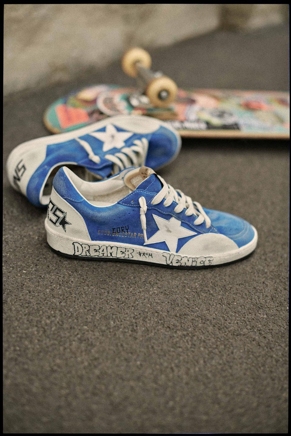 """The """"A Dreamer From Venice"""" Ball Star Pro sneaker by Golden Goose. - Credit: Courtesy of Golden Goose"""