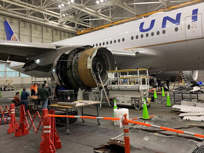 Check in: the United Airlines Boeing 777 involved in Saturday's emergency landing in Denver (NTSB)
