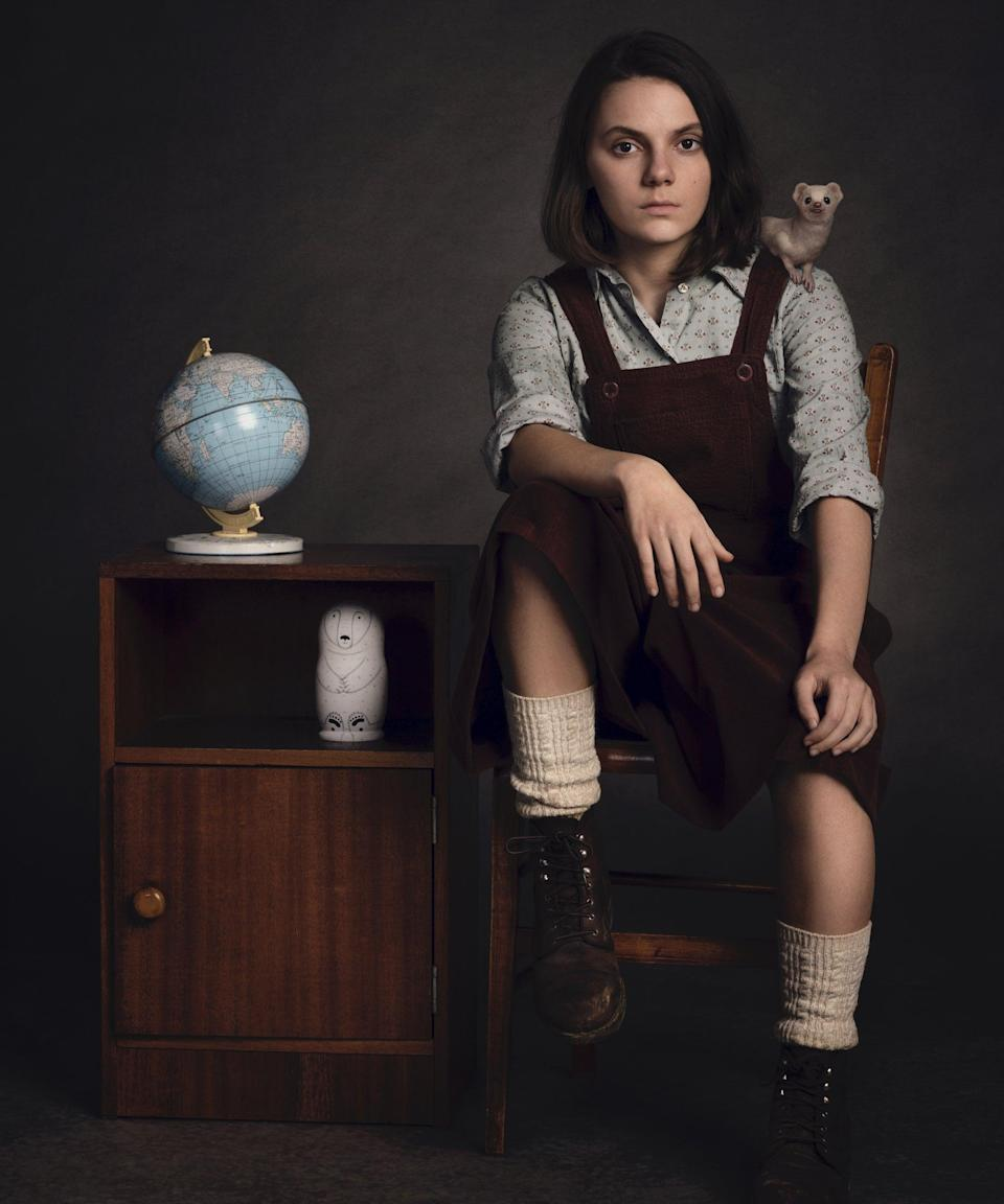 """<strong><h2>Dafne Keen Plays Lyra Belacqua</h2></strong> <br> <strong>Who Is Lyra?</strong> <br>Lyra is a young 11-year-old girl who lives in a parallel universe. She has lived most of her life at Jordan College, Oxford until she finds herself in the middle of a cosmic war between Lord Asriel on the one side, and the first angel to come into being, called The Authority, and his Regent, called Metatron, on the other. Her dæmon, Pantalaimon, is a creature who can take many different shapes, and she calls him """"Pan."""" <br> <br> <strong>Where You've Seen Keen<br></strong>Keen is definitely an up and coming major actress, as she's already landed a few major roles. Her breakout moment was playing Lara (aka, a young X-23) in <em>Logan</em> and played Ani in the BBC's <em>The Refugees</em>. <span class=""""copyright"""">Photo: Courtesy of HBO.</span>"""
