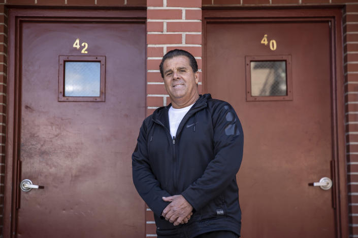 Mario Salerno, who cancelled the rental payments in April for tenants in all 18 of his apartment buildings, at one of his properties in Brooklyn, April 2, 2020. (Victor J. Blue/The New York Times)
