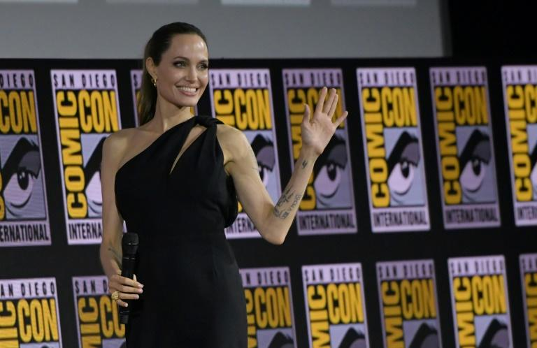 """US actress Angelina Jolie will front ensemble film """"The Eternals"""" in November 2020, which will feature the Marvel franchise's first deaf superhero (AFP Photo/Chris Delmas)"""