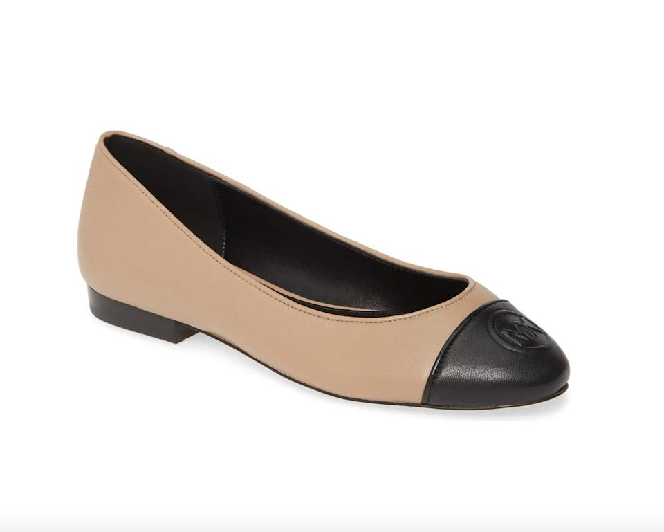 <p>This <span>Michael Kors Dylyn Ballet Flat</span> ($50, originally $99) is so polished and versatile.</p>