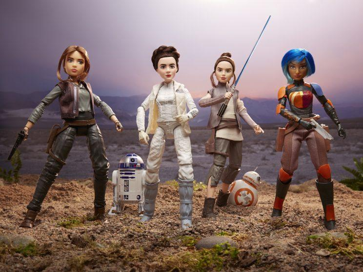 Star Wars Forces of Destiny Jyn Erso Princess Leia Rey Sabine Wren