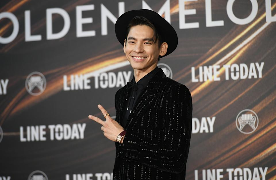 TAIPEI, TAIWAN - AUGUST 21: Po Hung Lin arrives at the 32nd Golden Melody Awards Ceremony at Taipei Arena on August 21, 2021 in Taipei, Taiwan. (Photo by Gene Wang/Getty Images)